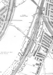 Bridge and lane cease to be depicted on maps