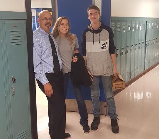 Mr. Goebel welcomes back the Locke family