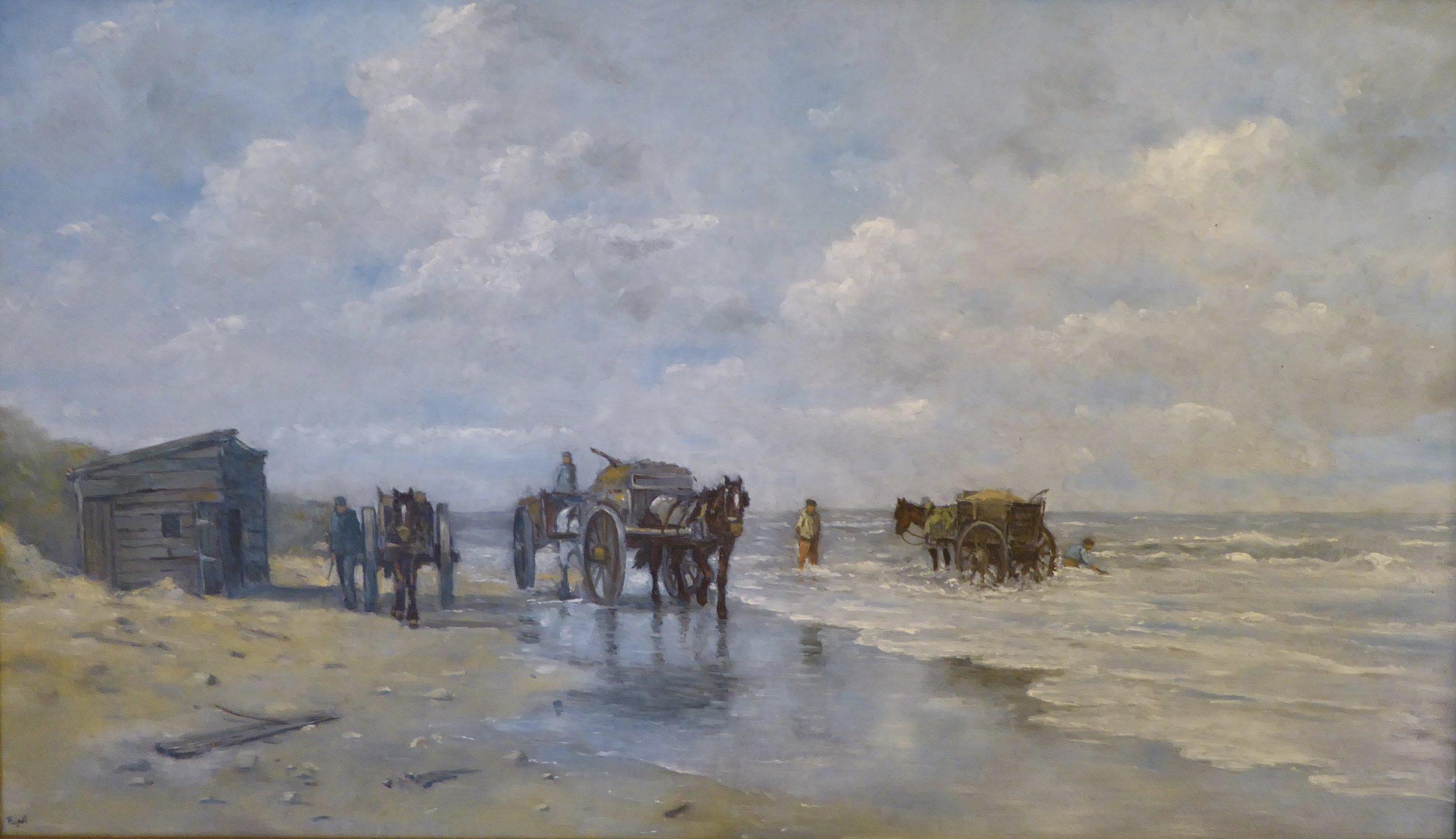 Coastal scene in Holland   14 x 23 inches - 525