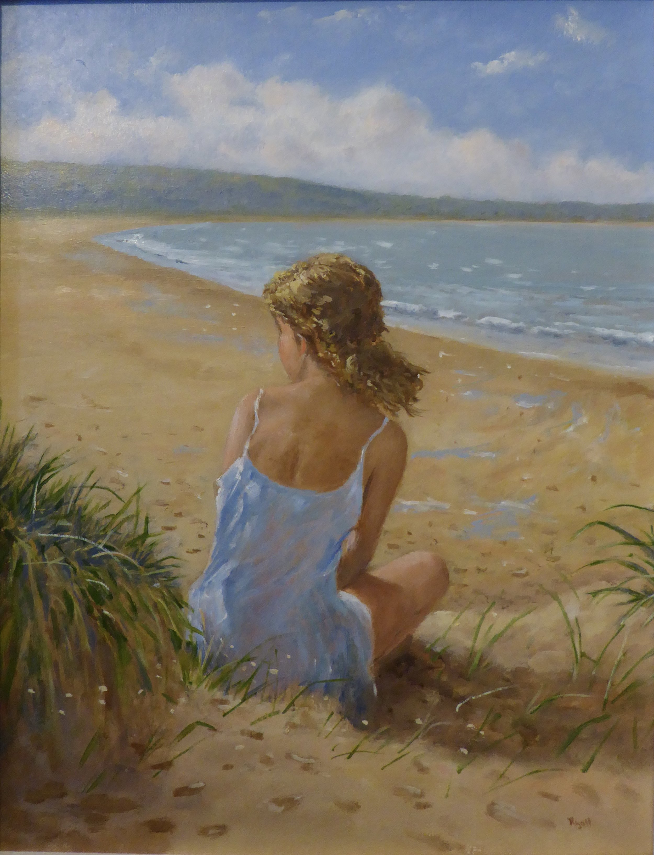 YOUNG GIRL BY OXWICH BAY    11 x 14 inches -  £425