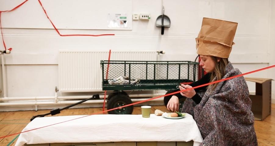 Performance Born-To-Store tijdens PUSH+ Lab HOME, Edinburgh, 2019. (Foto: Jessy Earl)