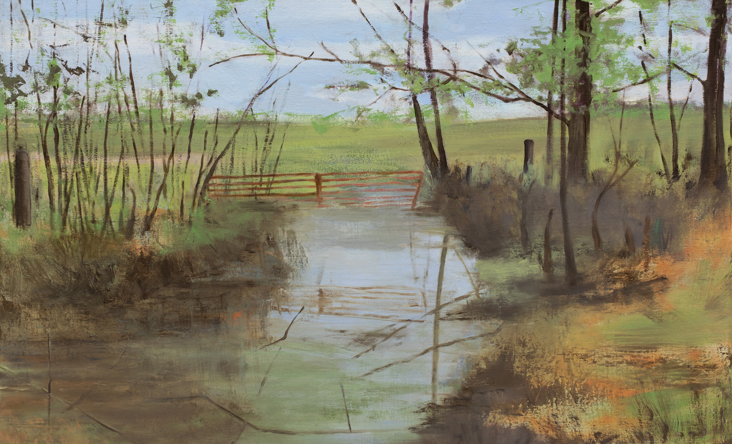 Shelby County Bottomland, Oil on Linen, 22 x 36 Inches