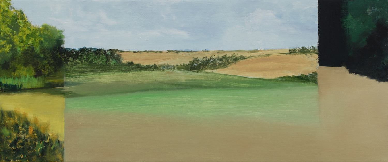 Farm, Oil on Linen, 20 x 48 Inches