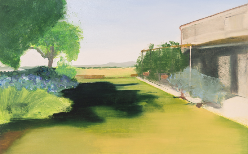 La Dogana Veduta 1, Oil on Arches Paper, 26 x 40 Inches