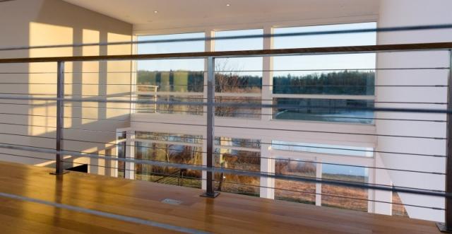 new modern house balcony