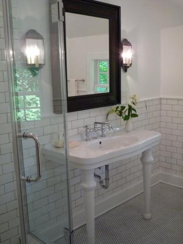 new modern house bathroom