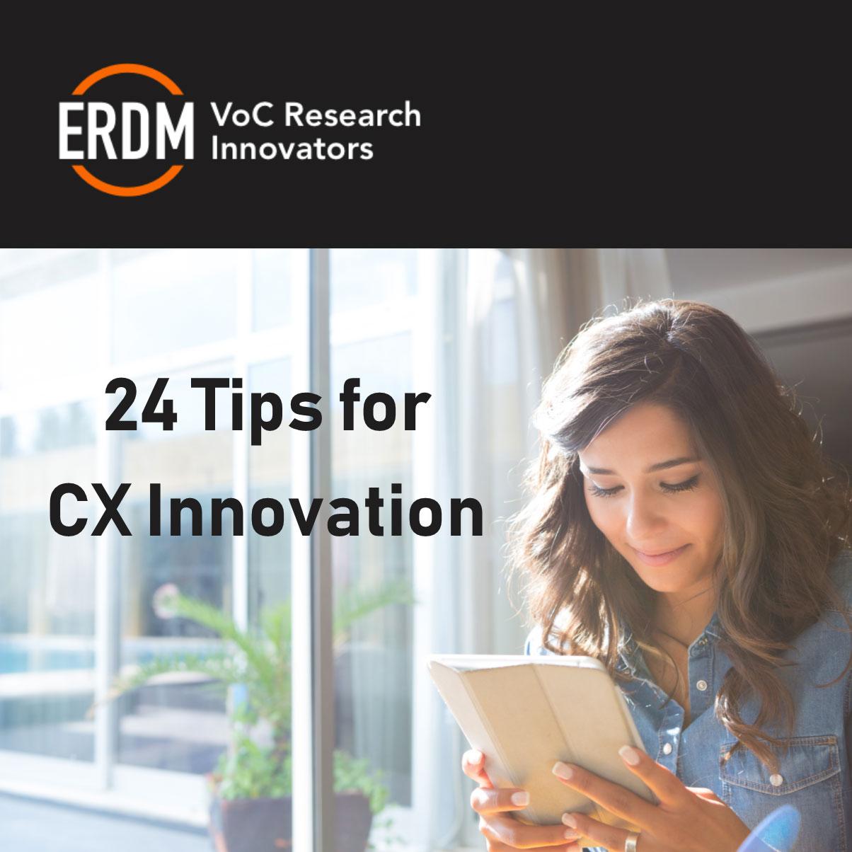 24 Tips for CX InnovationNew Whitepaper -