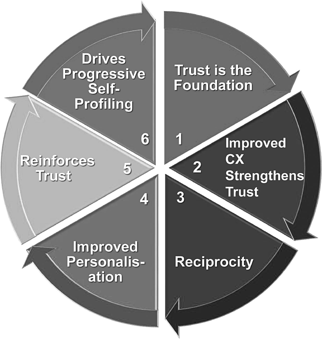 Figure 1: The six-step circle of value