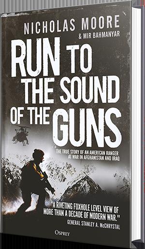 run to the sound of guns, nicholas moore, mir bahmanyar, book, war