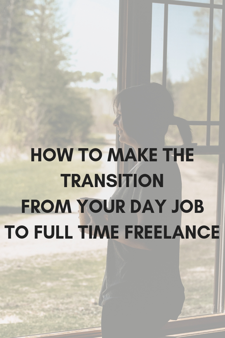 Want to take your freelance writing business to the next level? Turn your side hustle into your full-time gig! Become a freelance writer now! Learn how to quit your day job and make the transition into full time freelance. Click through to read the blog post.
