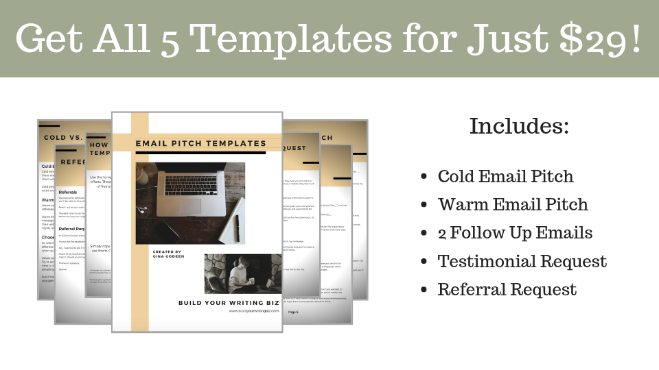 freelance writing templates, cold emailing templates, email pitch templates