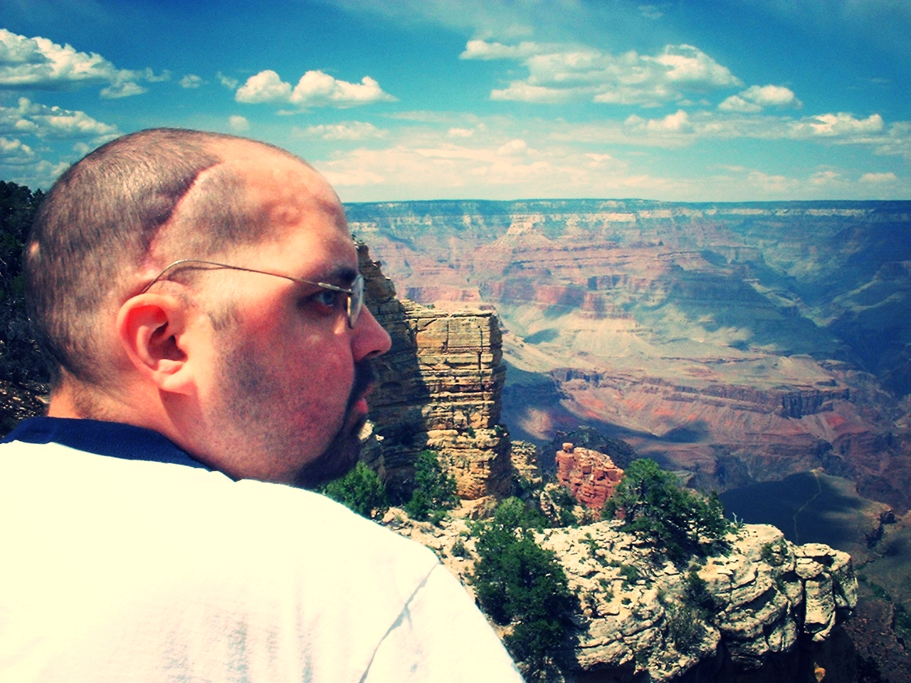 NEVER QUIT. With only a few months left to live, Chad decided his last trip would be to the Grand Canyon in July 2003.