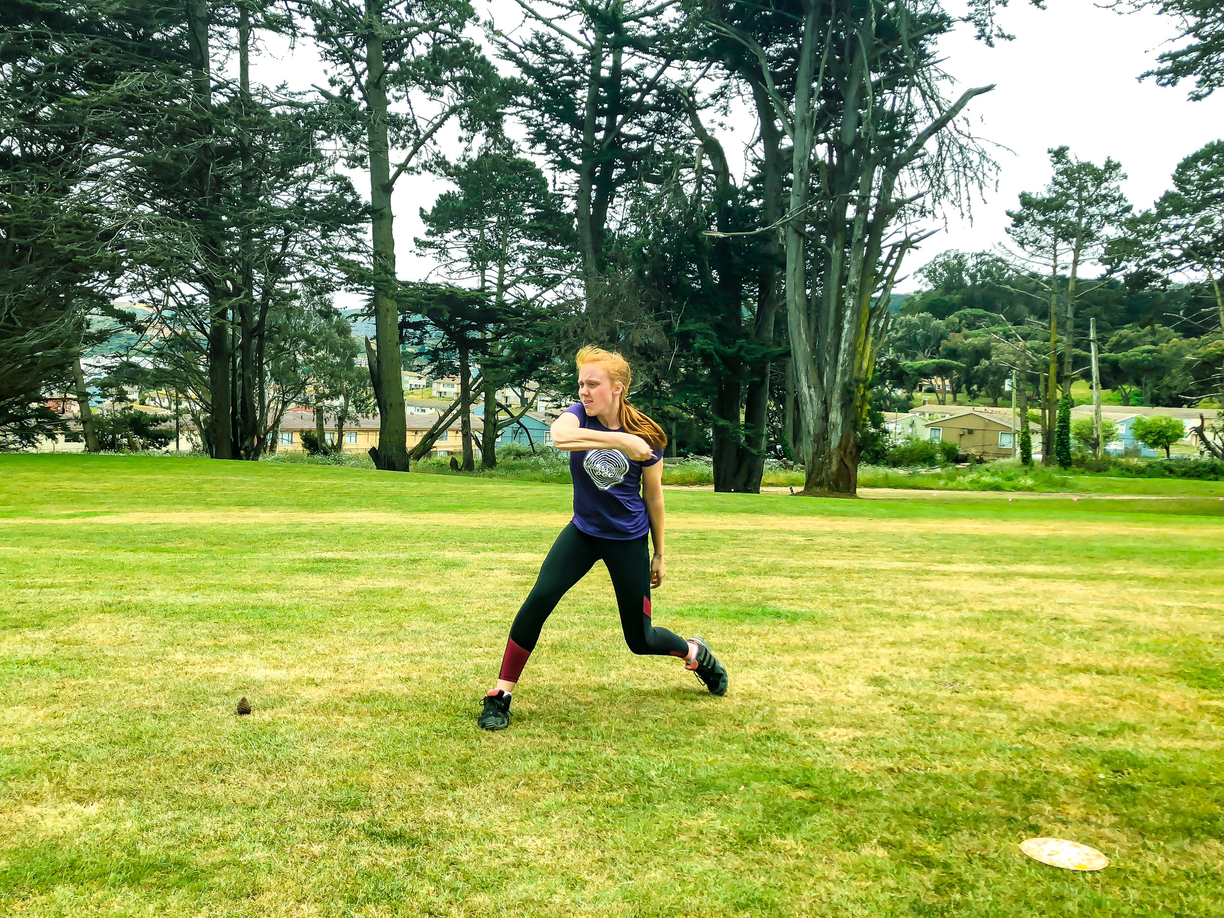 Edie Heard   rips a fairway drive on Gleneagles Hole 10 - one of a few Par 5's at the inaugural San Francisco Open.
