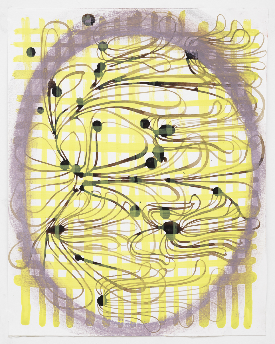 """Gouache, walnut ink, and pastel on paper  9.5""""x 12"""" 2010"""