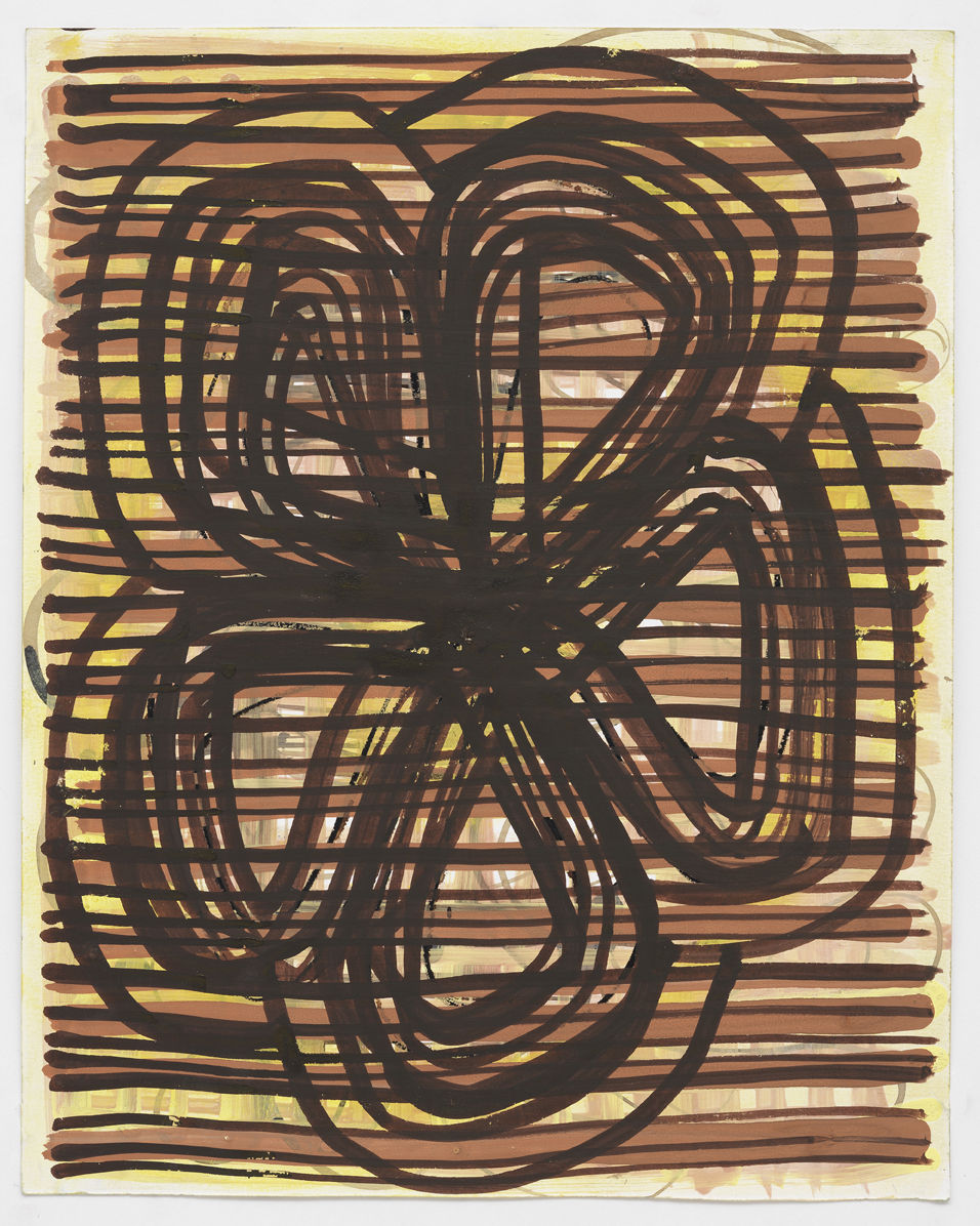 """Gouache and walnut ink on paper  9.5""""x 12"""" 2010"""