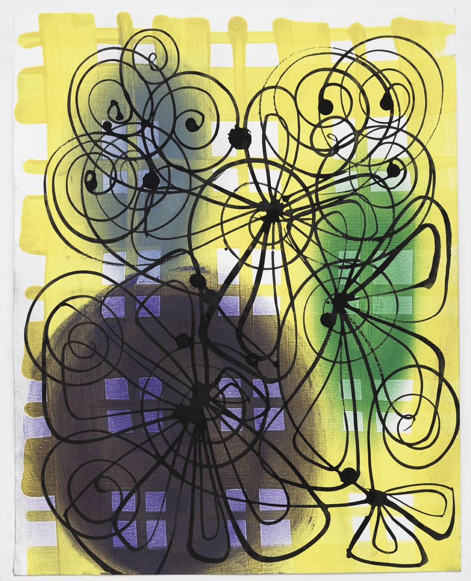 """Gouache, ink, and pastel on paper  9.5""""x 12"""" 2010"""