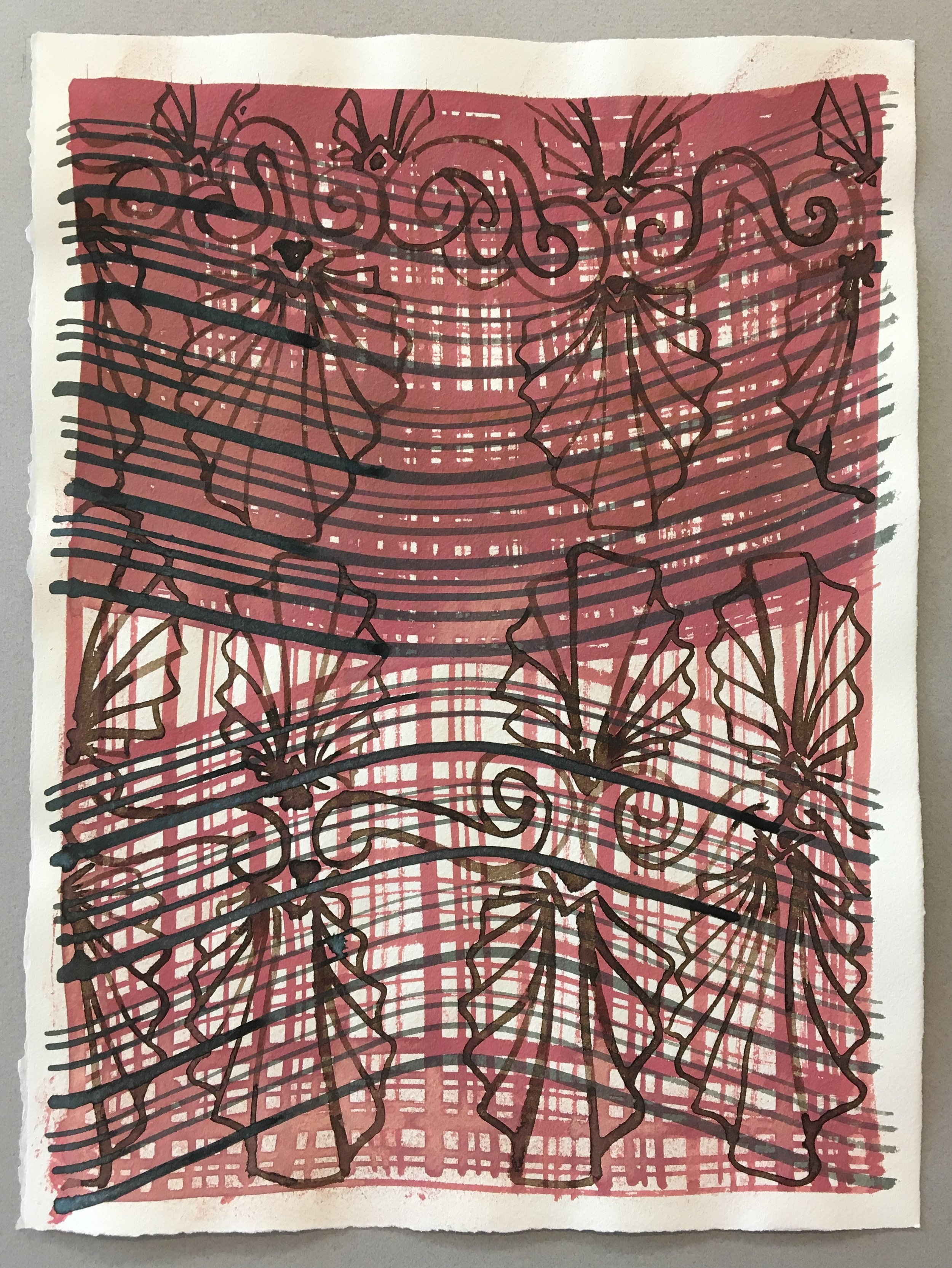 "Gouache on paper  11""x15"" 2017"