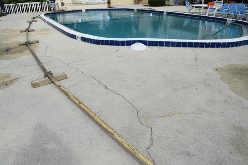 pool deck crack