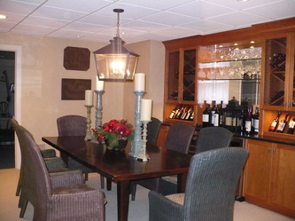 Wine Cellar Construction - New construction and interior architecture as well as finish and furniture selection.