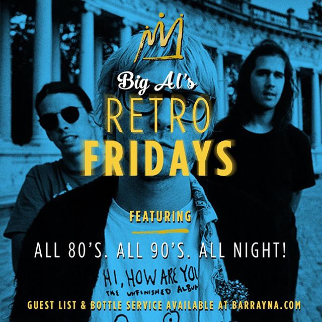 #TGIF !!! Tonight we kick it with @alastair_spins for #BigAlsRetro #RetroFridays ! The #OneAndOnly true #RetroNite ! Come see what people are talking about for yourself, you won't regret it! #BarRayna #UptownWaterloo #RetroMusic #KWAwesome