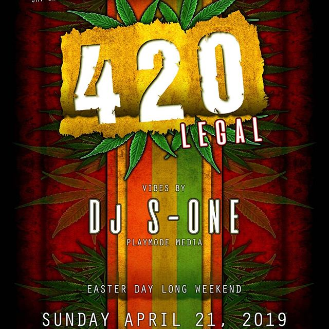 Tonite we are open !! , and the session has not stopped !! 420 celebrations are still happening on this long weekend !! We are blazing tonite with #djsone !!! We  Give aways from the dopest headshop in town ! Munchies and much more !! -