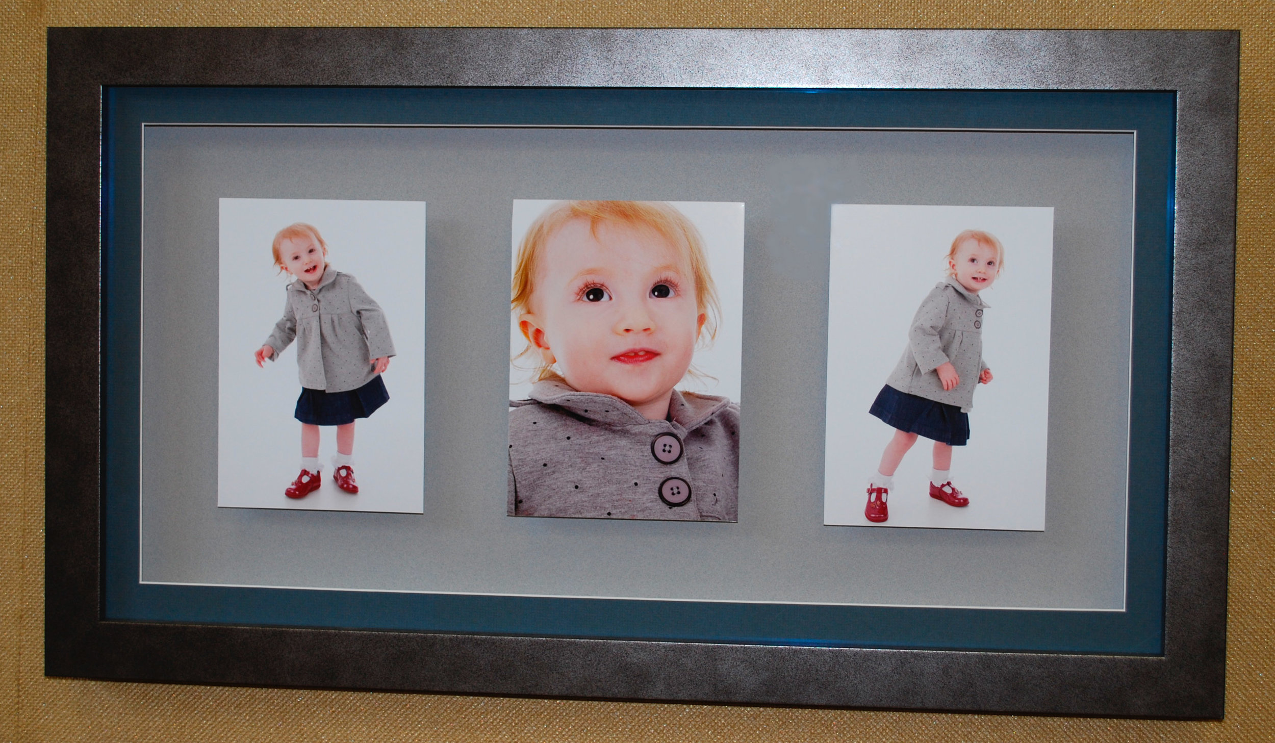 A set of photos each dry bonded with a reverse bevel back board to give them a floating feel