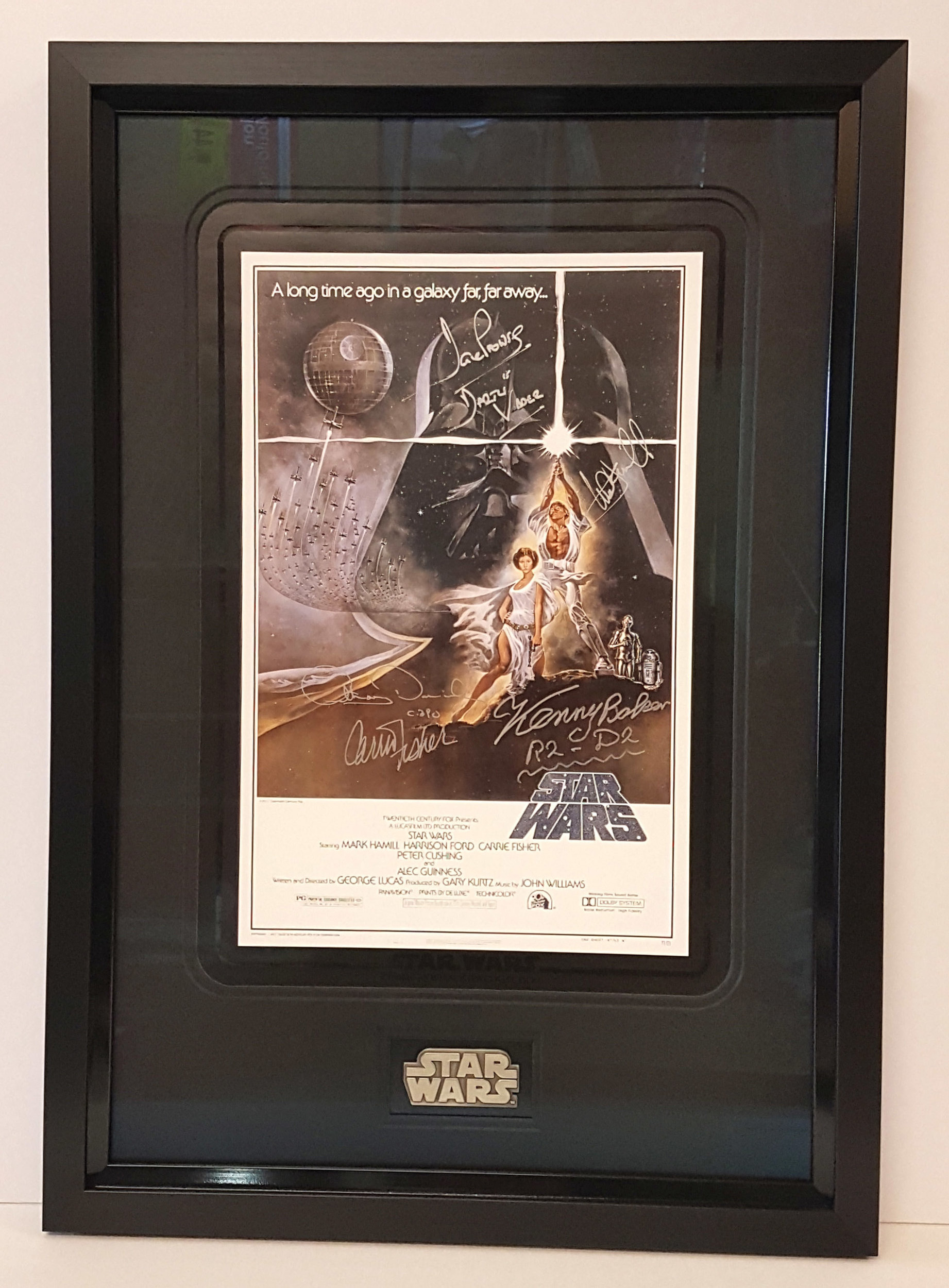 Anything valueable like this signed Star Wars print will need the conservation standard level of framing. see our Framing Service section for more information on FATG framing levels