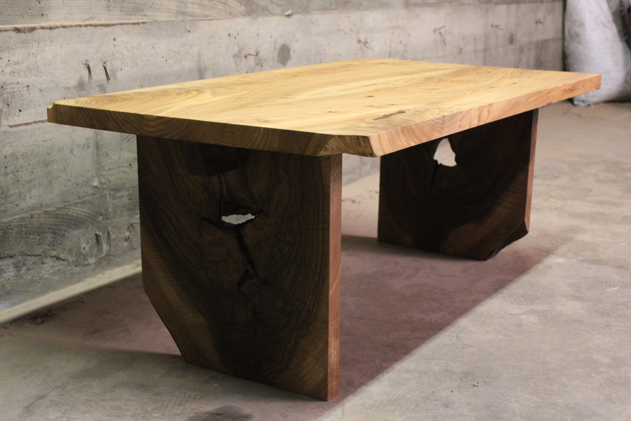 Elm & Walnut Coffee Table - A 45