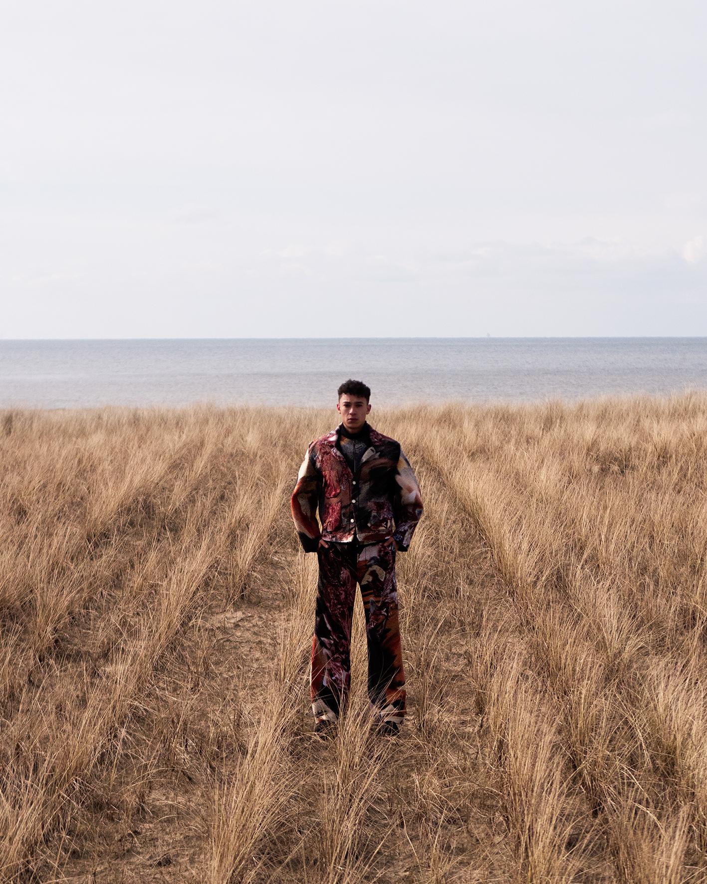 David Freeman for MOAM X Zalando bij Hargen aan zee, maart 2018 © Willem Sizoo