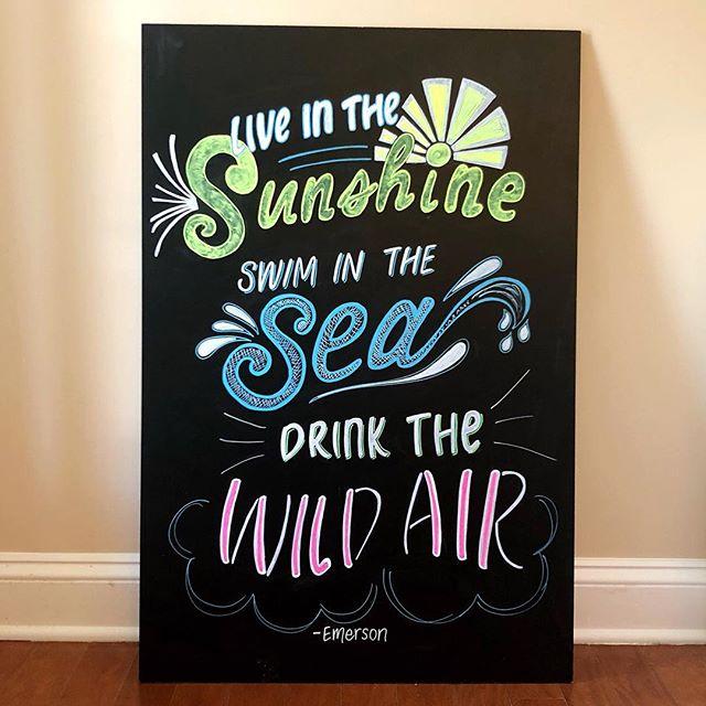Our summer time motto!!! What's yours? . . . . . . #whatsupwilmington #chalkboardlettering #handletteredsign #chalkboardsign #handlettering #wilmingtonnc #chalkboardart #weddingvendor #ncweddings