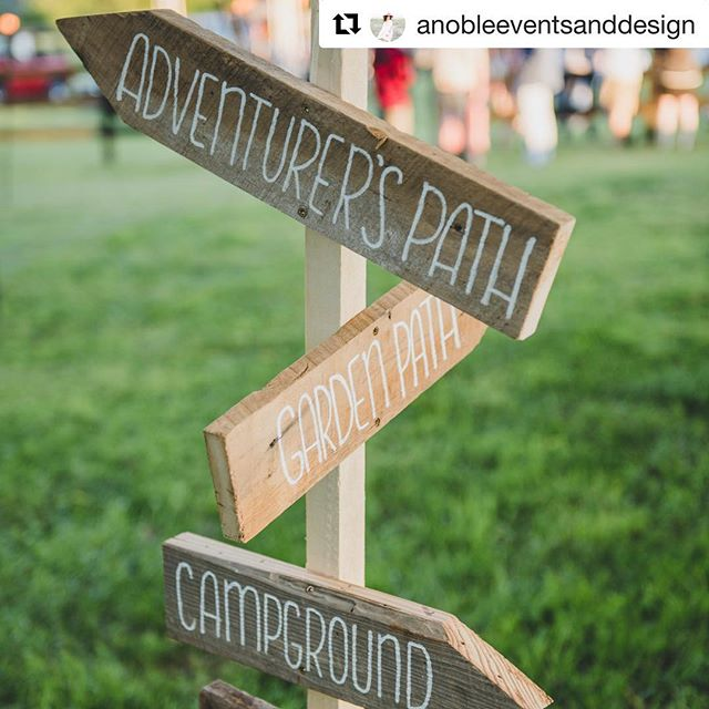 What a FUN rehearsal dinner this was! I mean, it was music festival themed 🎸 - how cool is that?Thanks @anobleeventsanddesign  for allowing us to make these fun distressed directional signs for your bride and groom! | Photo: @gracie_withers  #directionalsigns #rehearsaldinner #weddingsigns #reclaimedbarnwood