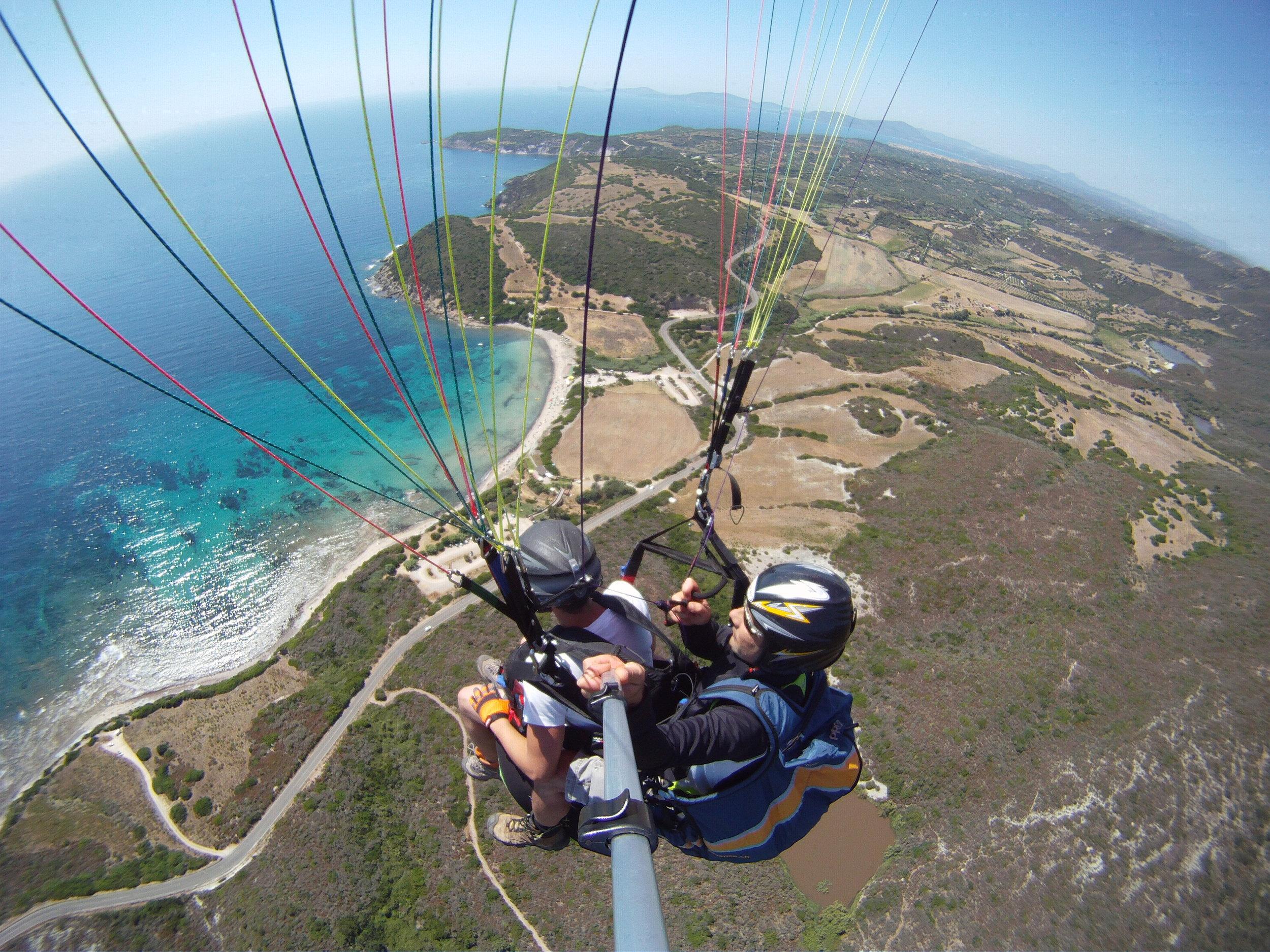 Fly high over La Speranza beach