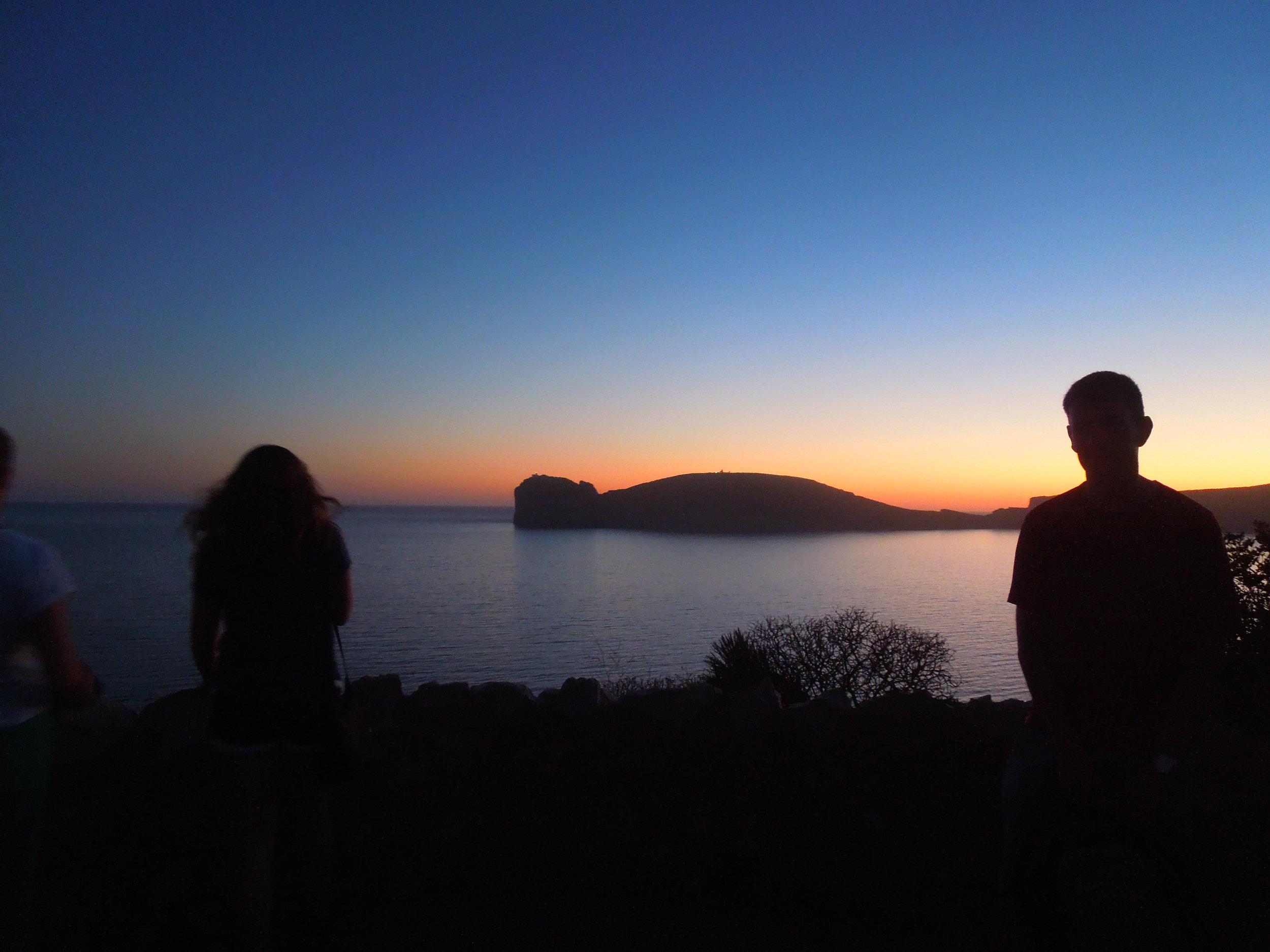 Hike punta Giglio at sunset