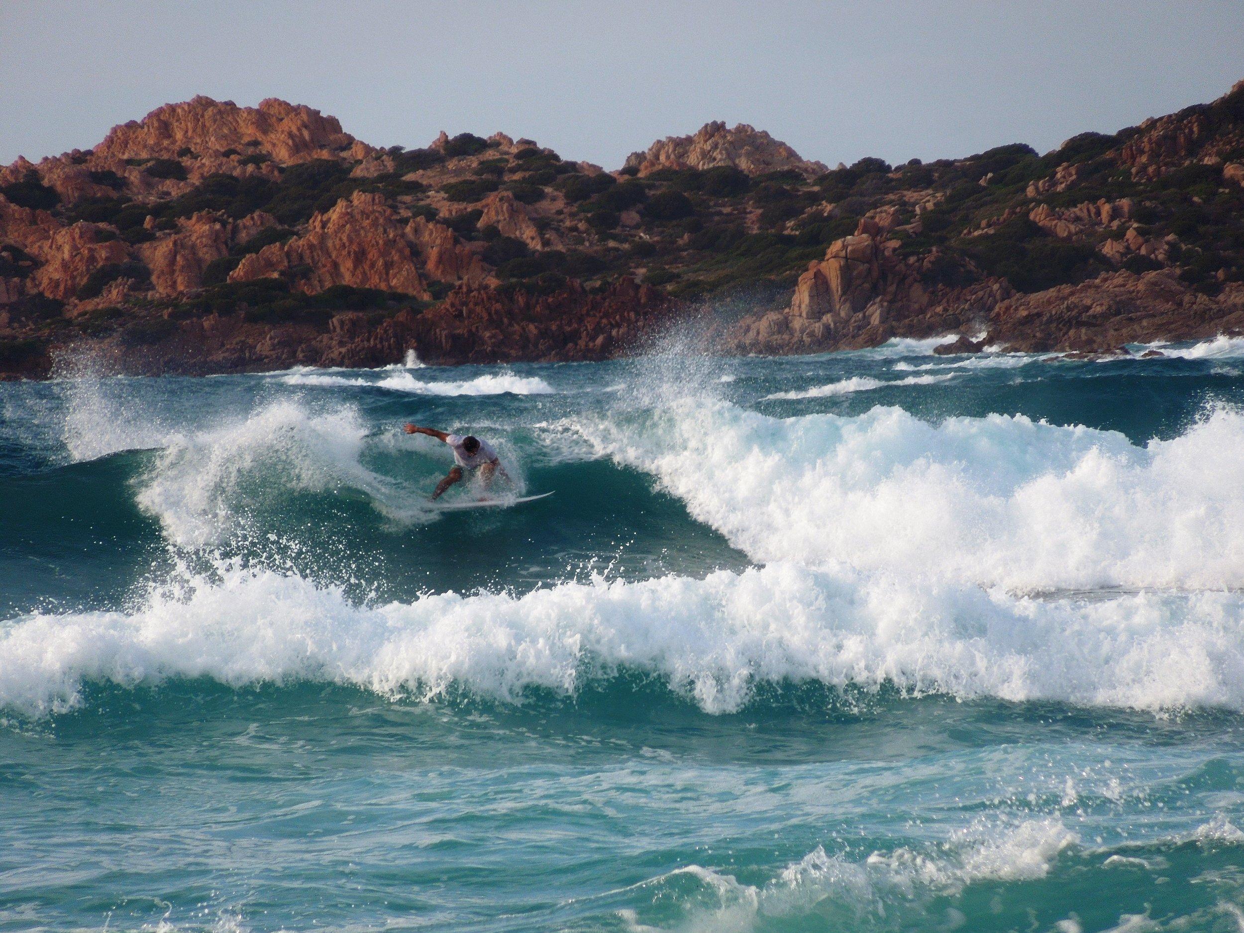 Catch a wave in sardinia