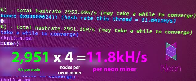 Neon Miner 11.5kH/s+ - Mining Speed Proof (on v7). New v8 algorithm is more intense (lower hash).