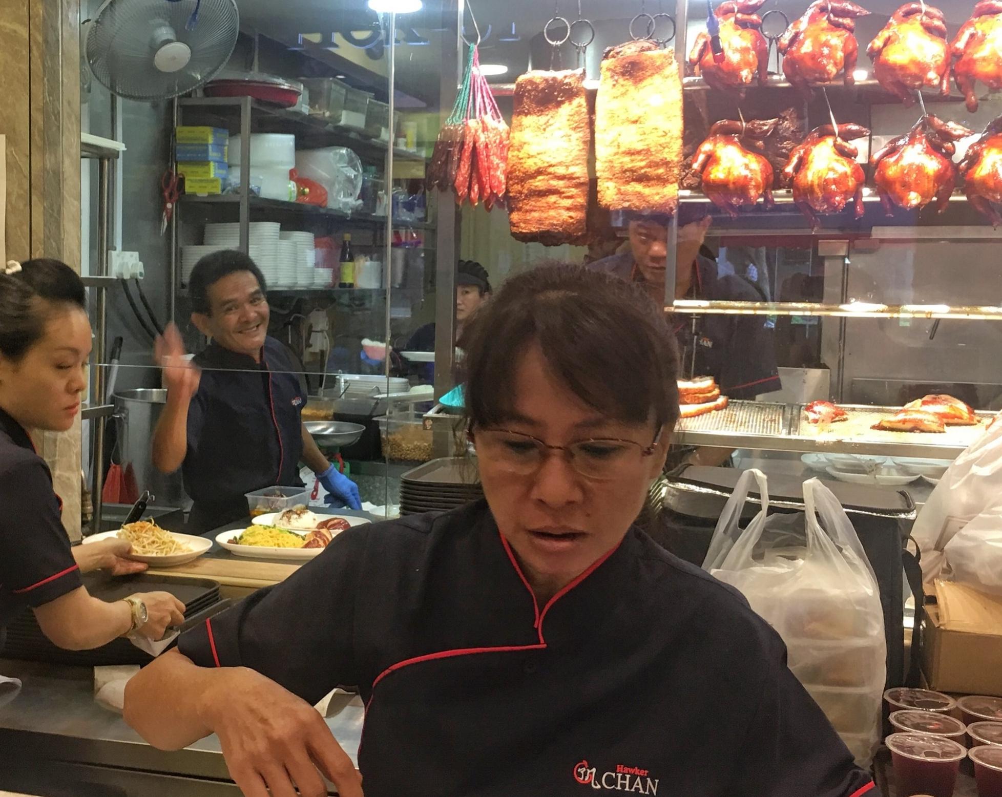 Chef Chan waving hello.