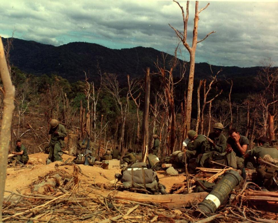 U.S. soldiers of the 3rd Battalion, 12th Infantry, 4th Infantry Division, November 25, 1967. REUTERS/Courtesy U.S. Arm