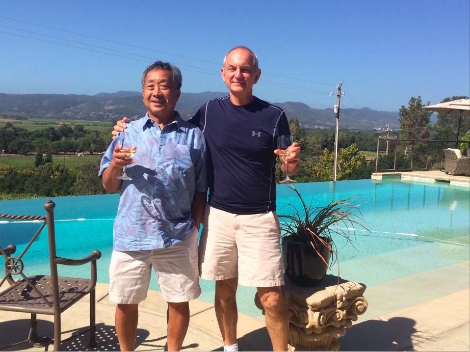 Both gentlemen in Napa Valley, 2015.