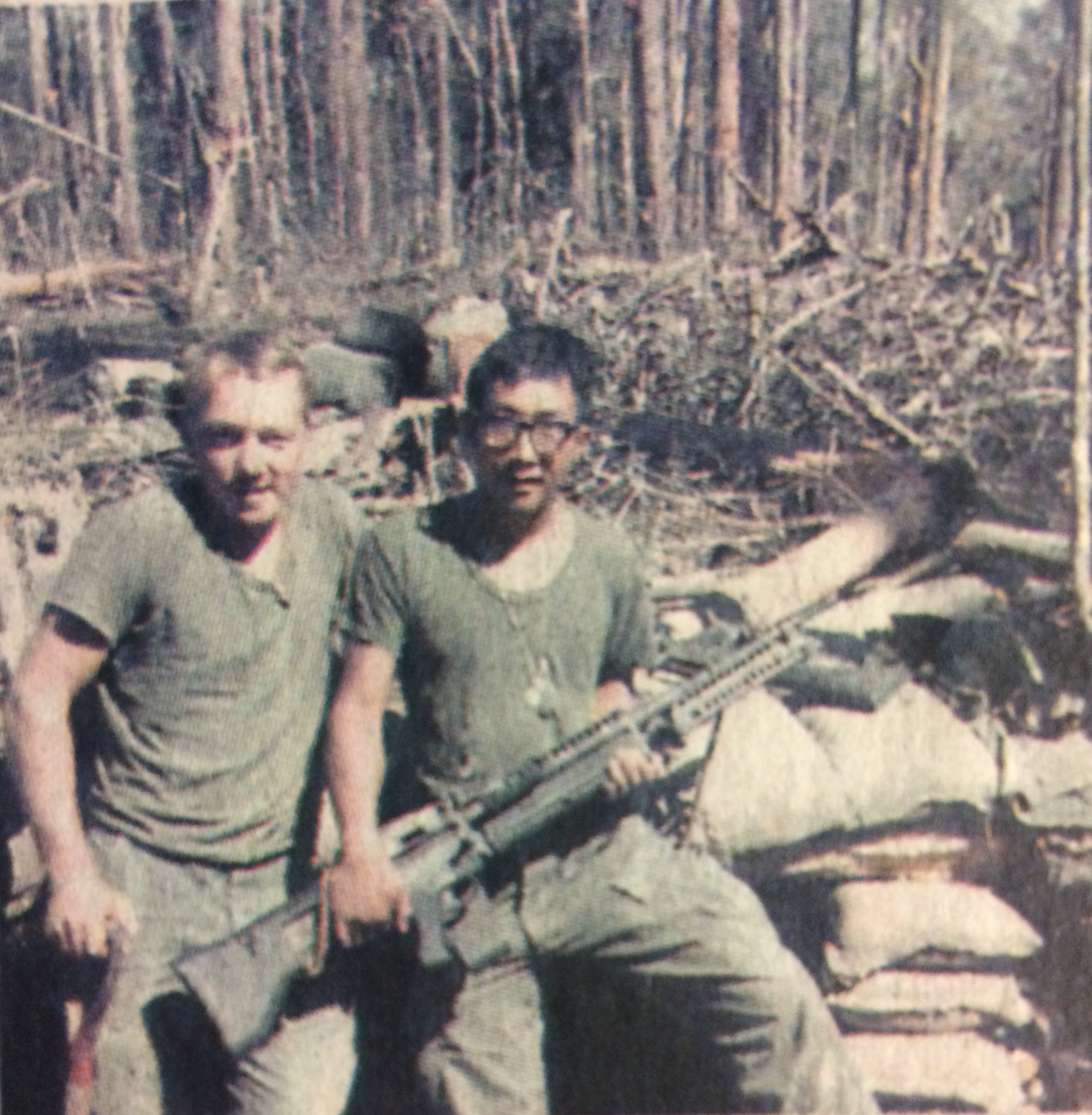 Kay Lee with buddy, Brian Bell, in Vietnam, 1967
