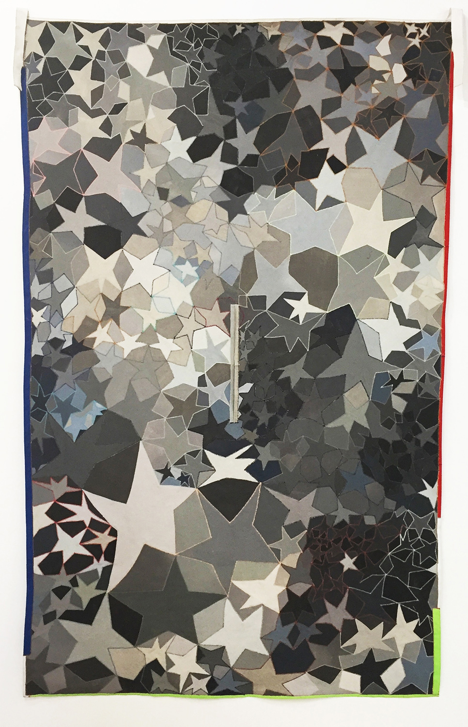 Poncho no 5, 2014    paint on canvas, sewing thread    93 1/2 x 58 1/4 in.