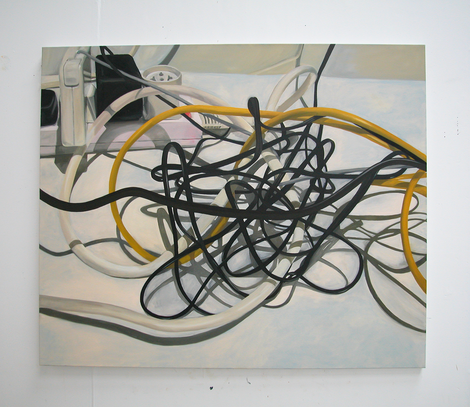 untitled (wires and lead), 2005  oil on canvas  50 x 60 in