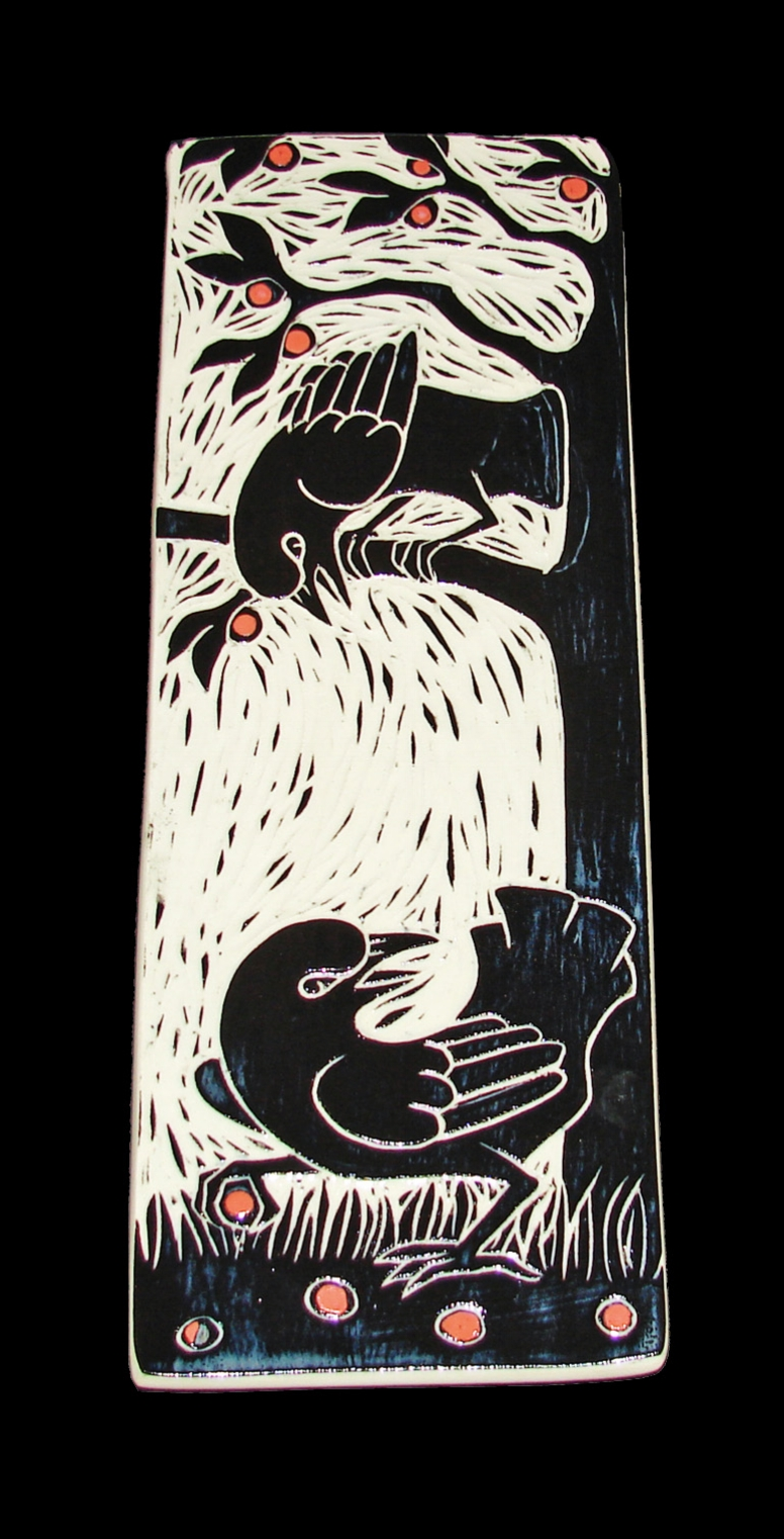 Hanging Crow Platter