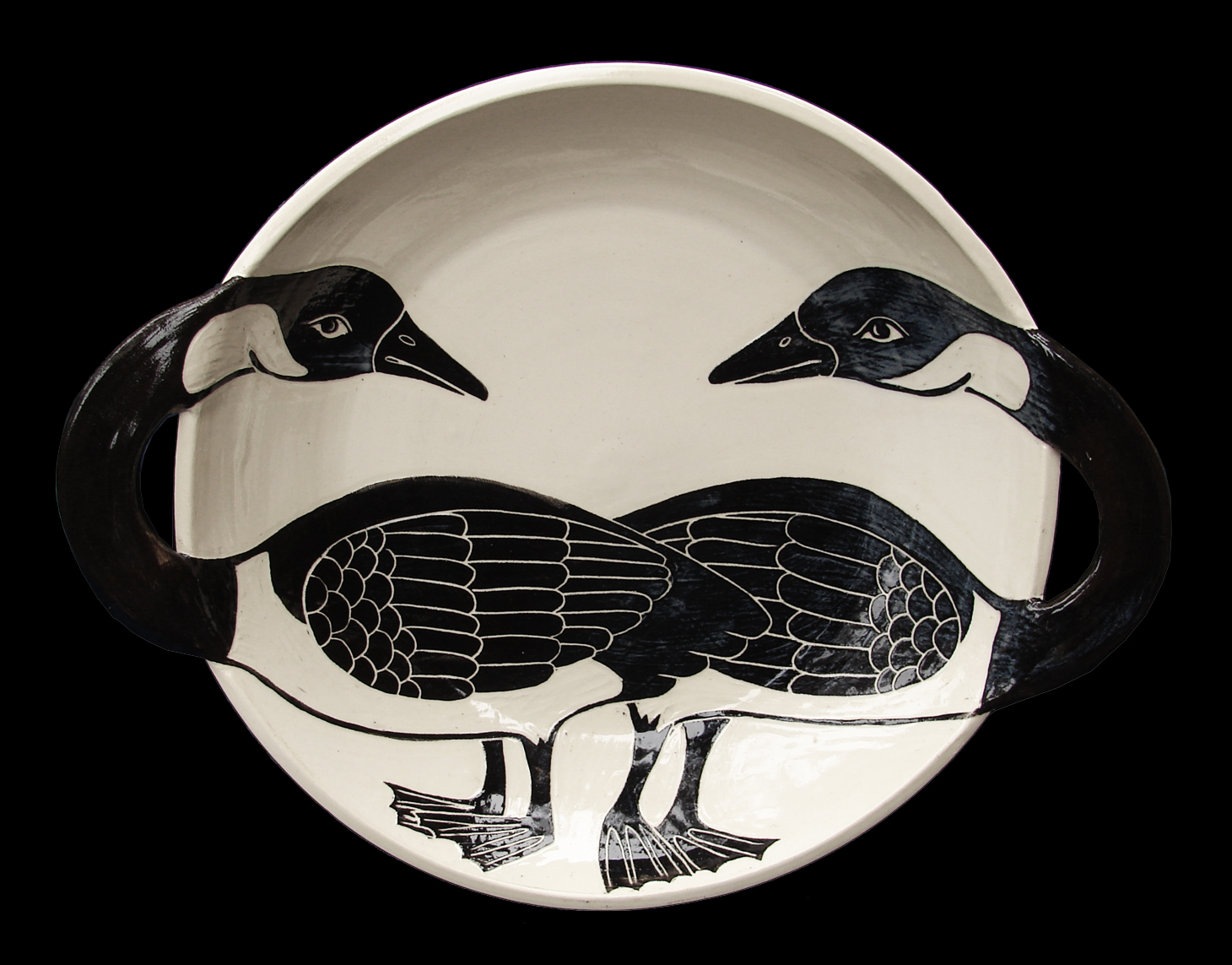 2 Geese 3D Bowl