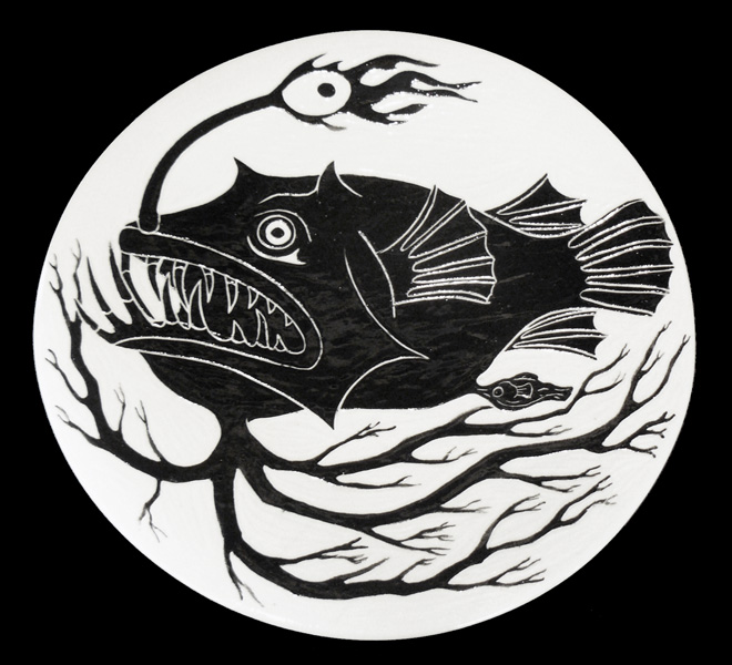 """Anglerfish Dinner Plate (approx 12"""")"""