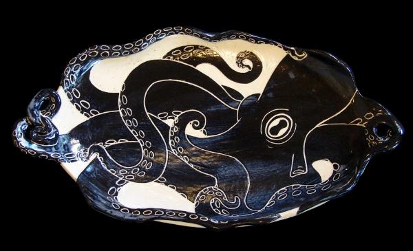 Octopus Large Platter 3D