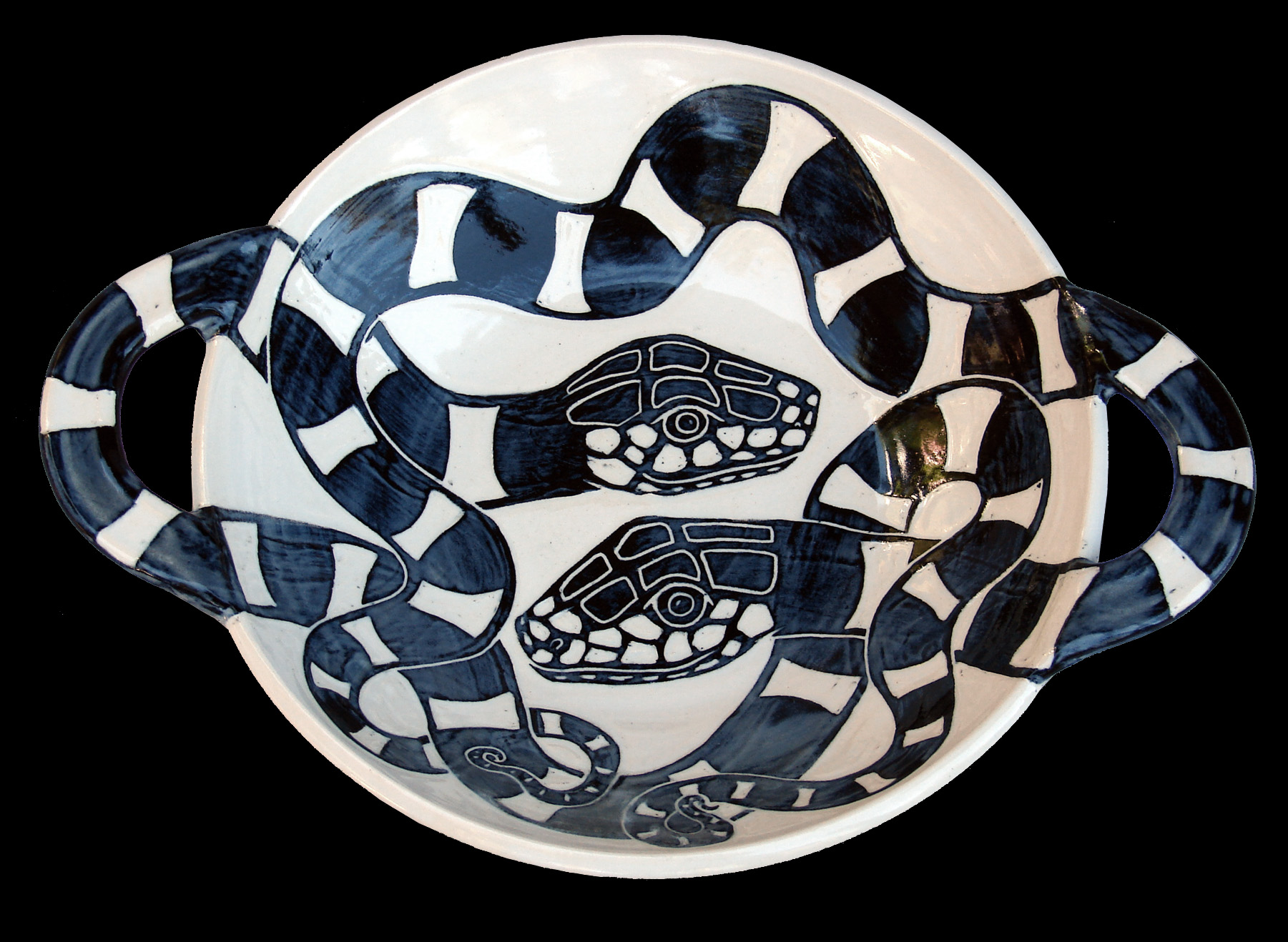 California Kingsnakes (3D Large Bowl)