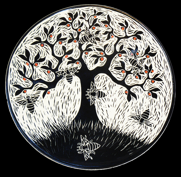 Apple Tree n Bees Plate