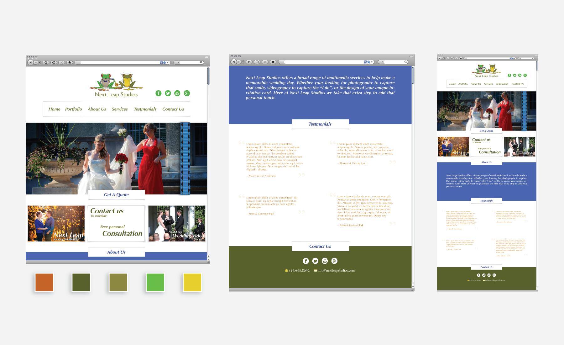 Next Leap Website Branding
