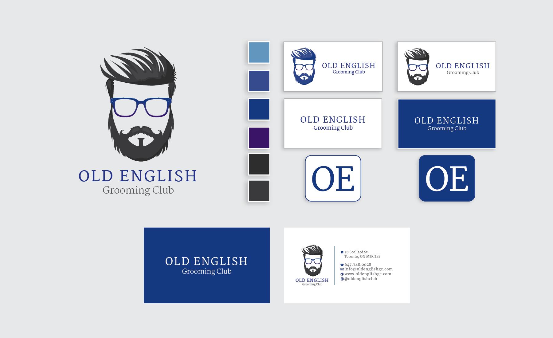 Old English Grooming Club Branding