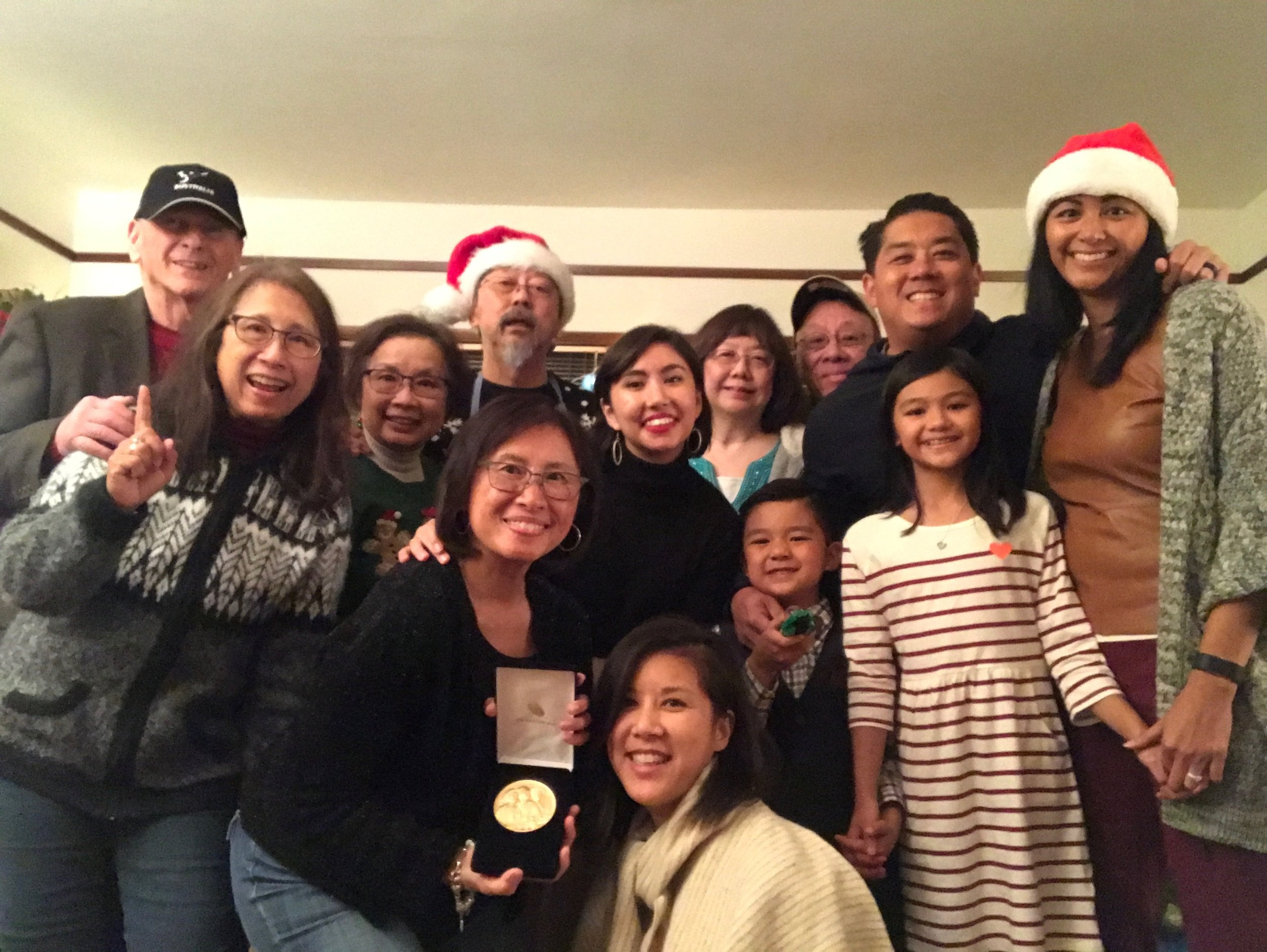 Marissa with her Mom's side of the family this past Christmas.